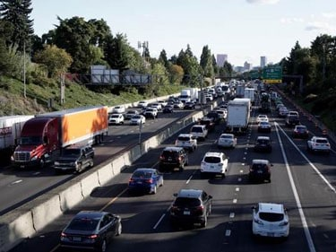 This photo shows the congestion on I-5 south of Portland. (Photo: Oregon Department of Transportation)