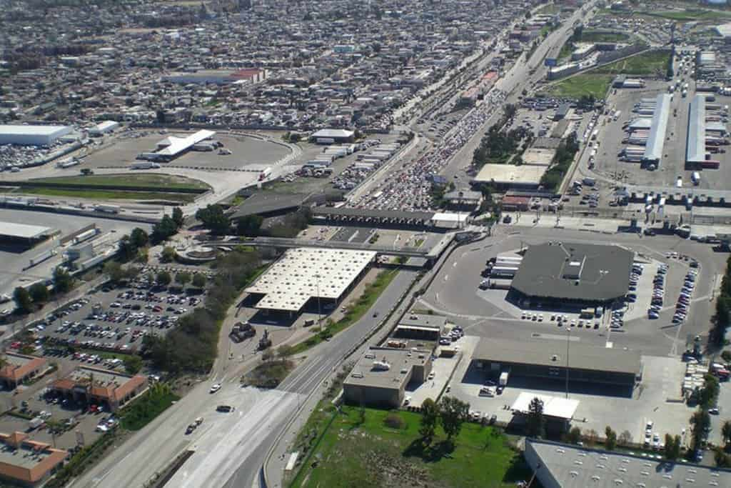 An aerial view of the Otay Mesa LPOE. (Photo: Otay Mesa Chamber of Commerce)