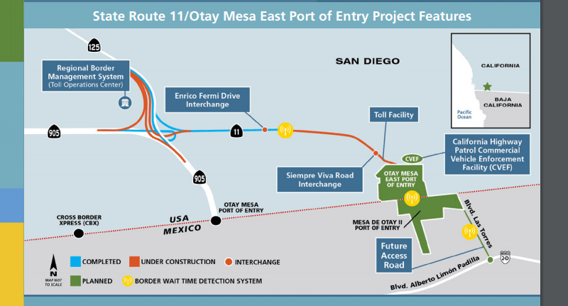 Another map of the Otay Mesa East project. (Image: San Diego Chamber of Commerce)