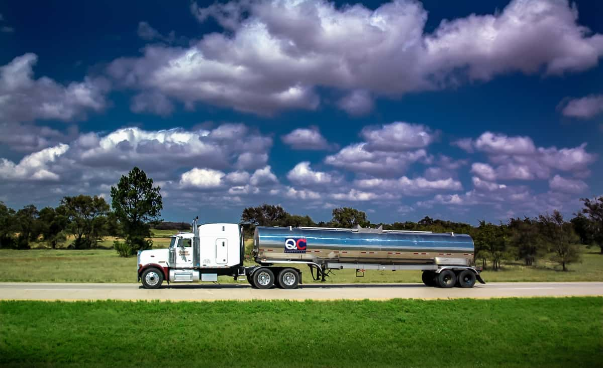 A Quality Carriers tanker on its way to a delivery. (Photo: Jim Allen/FreightWaves)