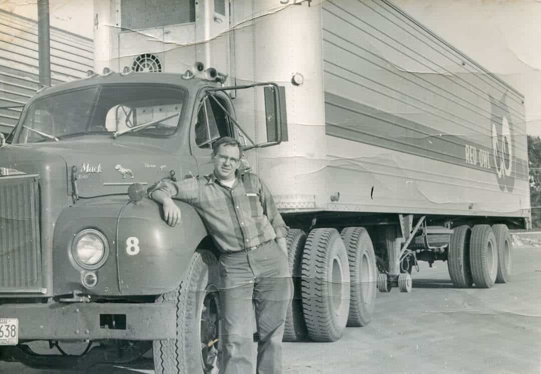 George Beihoffer by his truck in 1964. (Photo: @Red Owl Memories/Facebook)