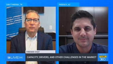 George Abernathy and Adam Miller during day 2 of FreightWaves LIVE @HOME