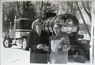 This photo shows a vintage Chemical Leaman bulk tanker. (Photo: Historical Society of Pennsylvania)