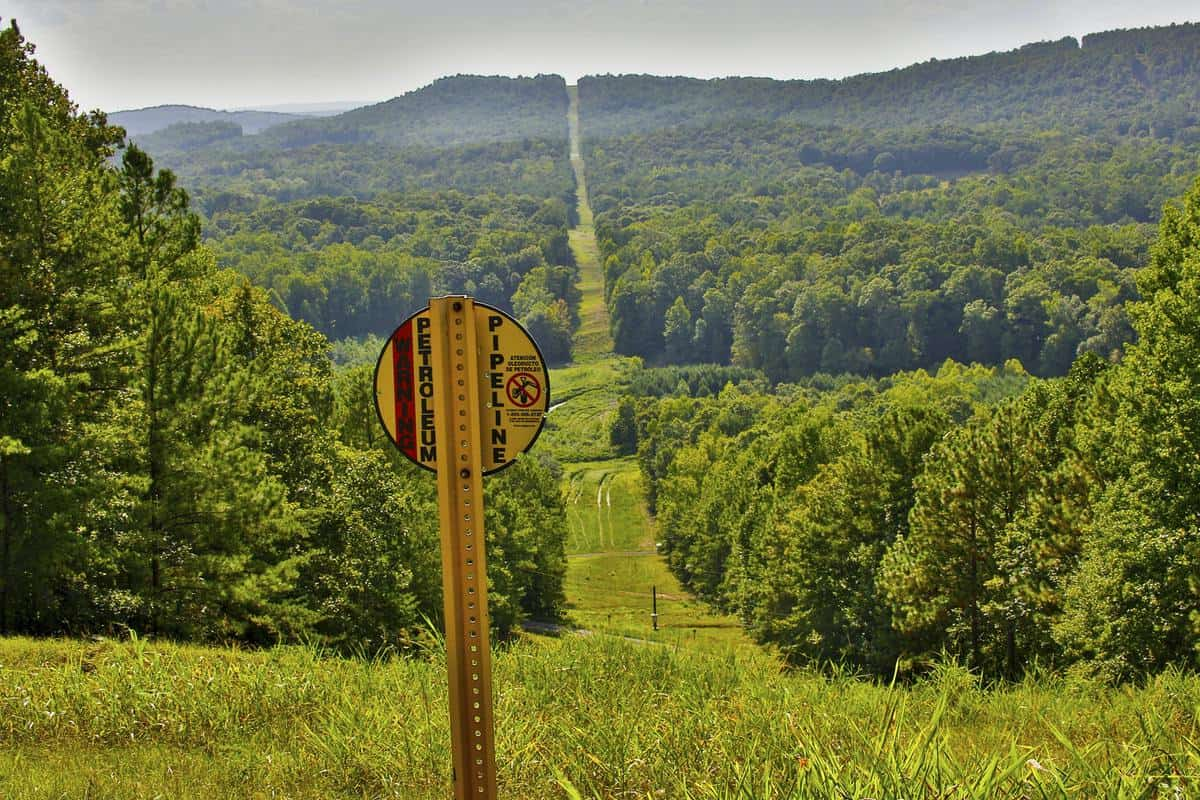 A Colonial Pipeline right of way. (Photo: Colonial Pipeline)
