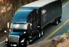 A tractor-trailer from Canadian trucking company Titanium Transportation Group
