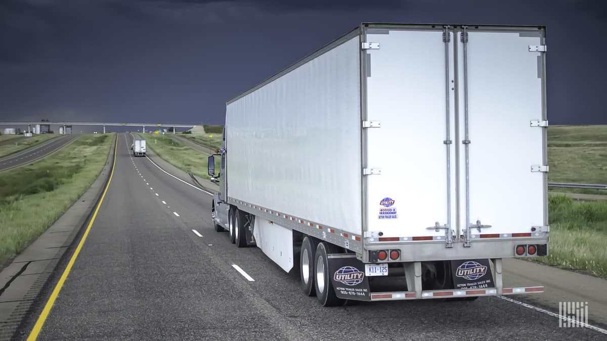 A trailer produced by Utility Trailer Manufacturing, which was recently targeted in a ransomware attack.
