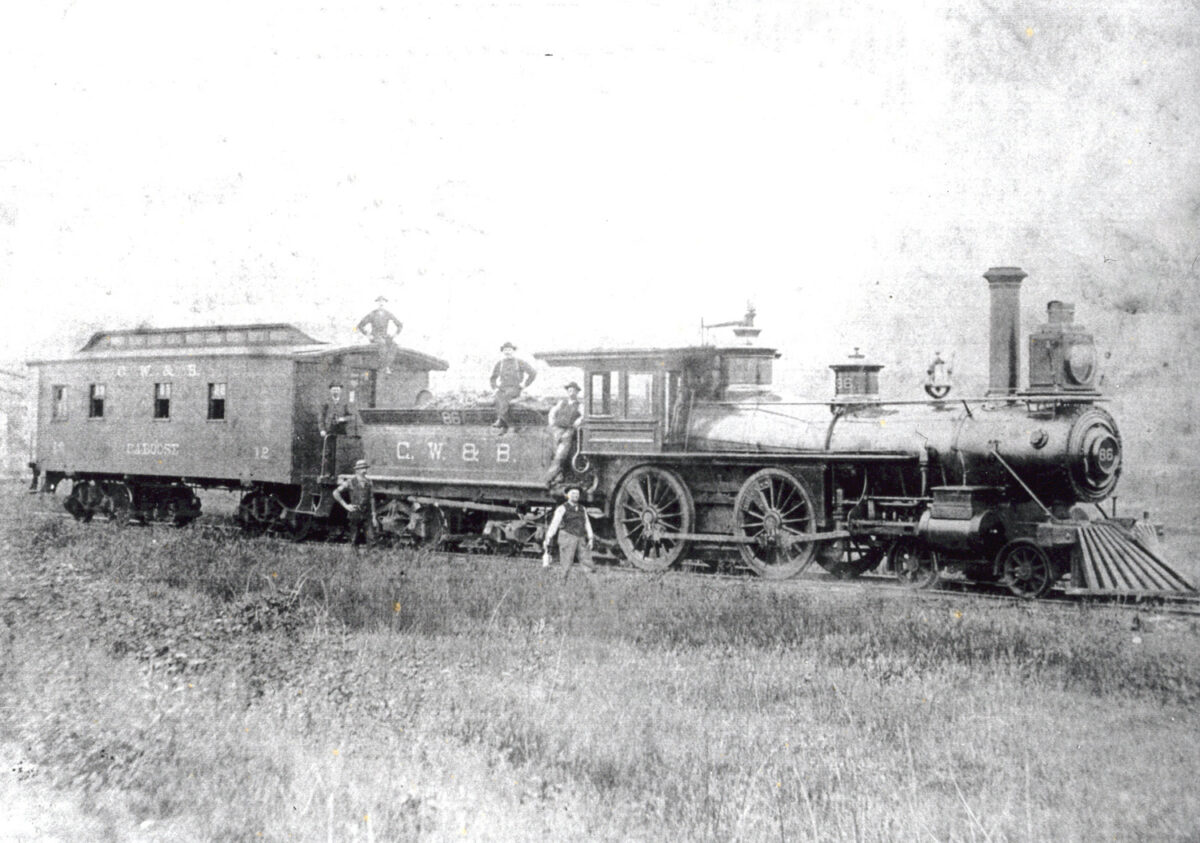 Photo of a train taken in the 1880s. (Photo: American-Rails.com)