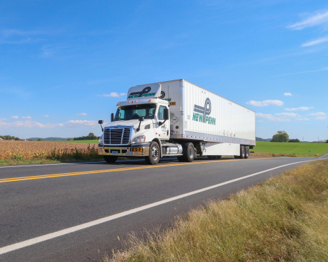A current New Penn tractor-trailer on the road. (Photo: New Penn)