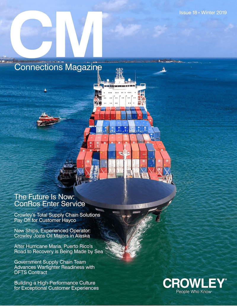 The cover of a recent Crowley Connections Magazine. (Photo: Crowley)