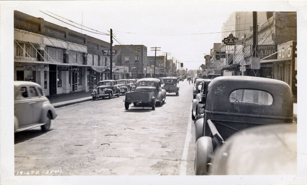 Until the interstates were built, state and national roads often went through cities and towns. (Photo: Texas Historical Commission)