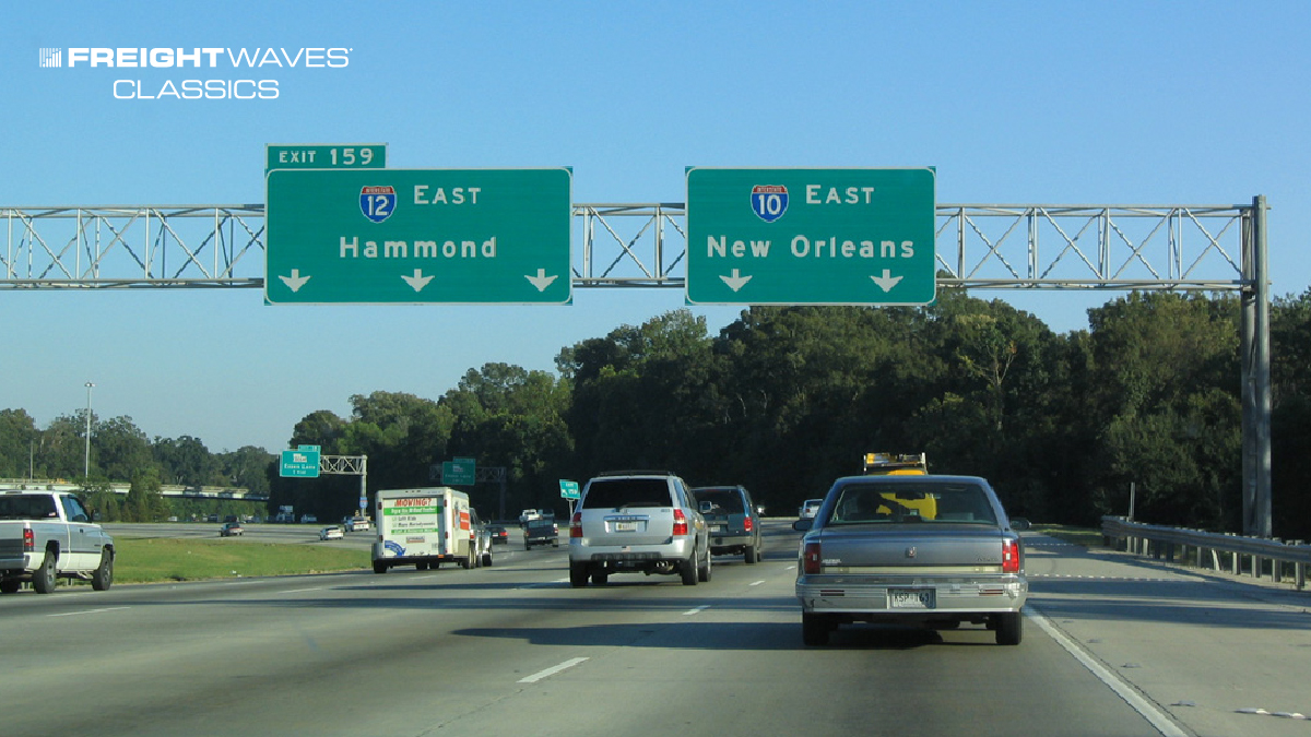 FreightWaves Classics: I-12 was built to help avoid I-10 in the Bayou State