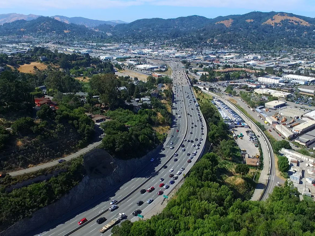 A heavily traveled stretch of US 101 in Marin County, California. (Photo: Transportation Authority of Marin County)