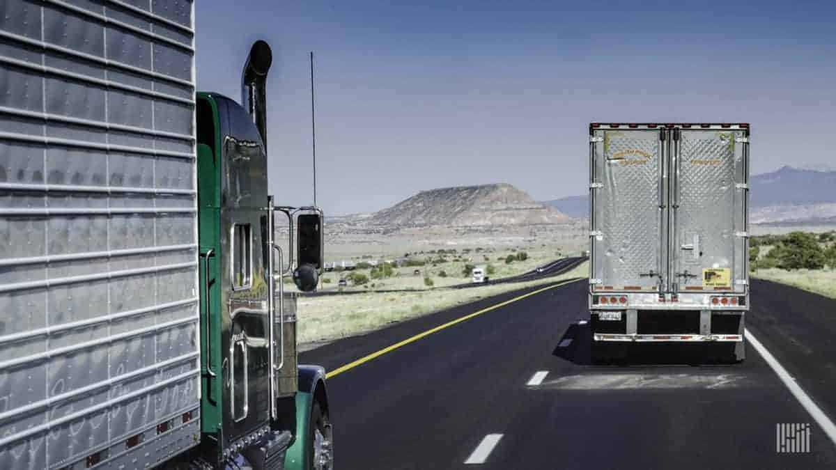 Driving on an interstate in a sparsely populated area also has its challenges. (Photo: Jim Allen/FreightWaves)
