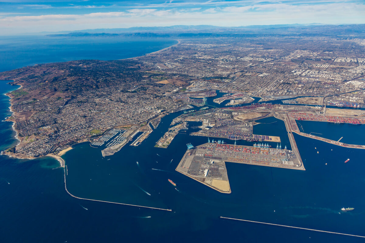 An aerial photograph shows the size of the Port of Los Angeles. (Photo: Port of Los Angeles)