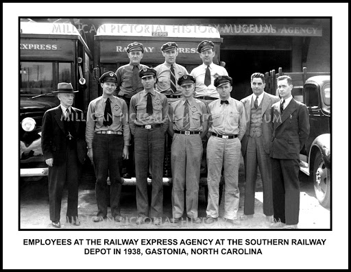 Employees at the REA at the Southern Railway Depot in Gastonia, NC (1938).