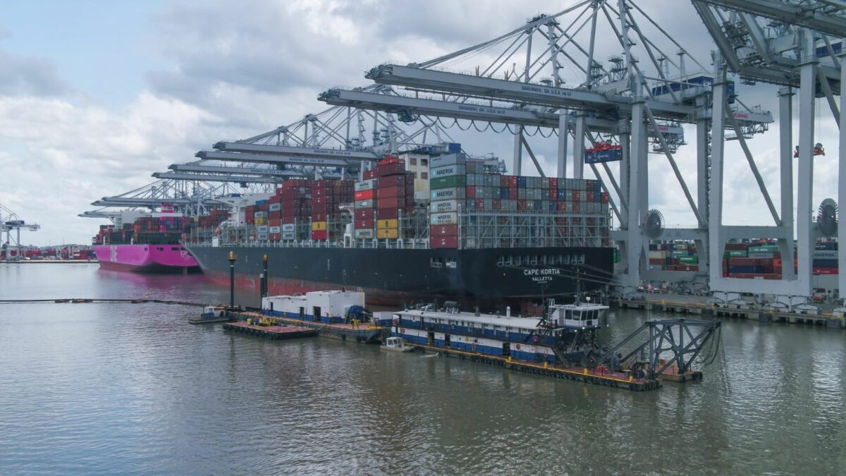 Dredging project temporarily slows vessel activity at Port of Savannah