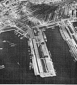 An aerial view of the Port of Pusan in 1950.  (Photo: U.S. Army)