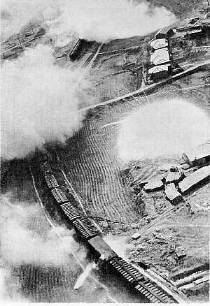 U.S. aircraft attack a North Korean train with rockets and napalm in 1950. (Photo: U.S. Army)