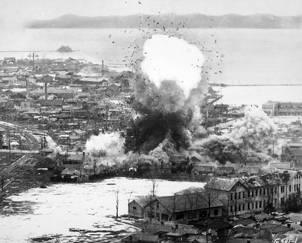 Bombing North Korea's ports and cities helped decrease its logistical and re-supply efforts. (Photo: U.S. Air Force)