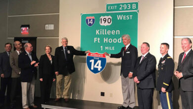 A ceremony for the designation of Interstate 14. (Photo: Fort Hood Sentinel)