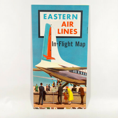 An Eastern Air Lines in-flight map from an earlier time period.