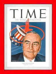Eastern's Eddie Rickenbacker on the cover of TIME magazine. The hat was the symbol of Rickenbacker's squadron in World War I; flying out of it is Eastern's logo at the time. (Image: Author's collection)