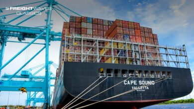 A containership is berthed at the Port of Jacksonville, (Photo: JAXPORT)