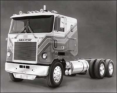 A cab-over-engine Mack tractor from the 1970s. (Photo: Mack Trucks)