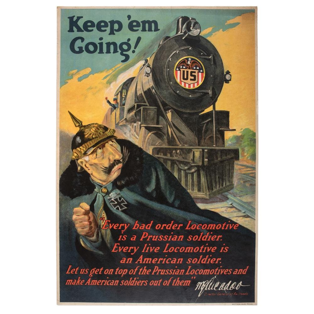 A poster printed by the USRA during World War I.