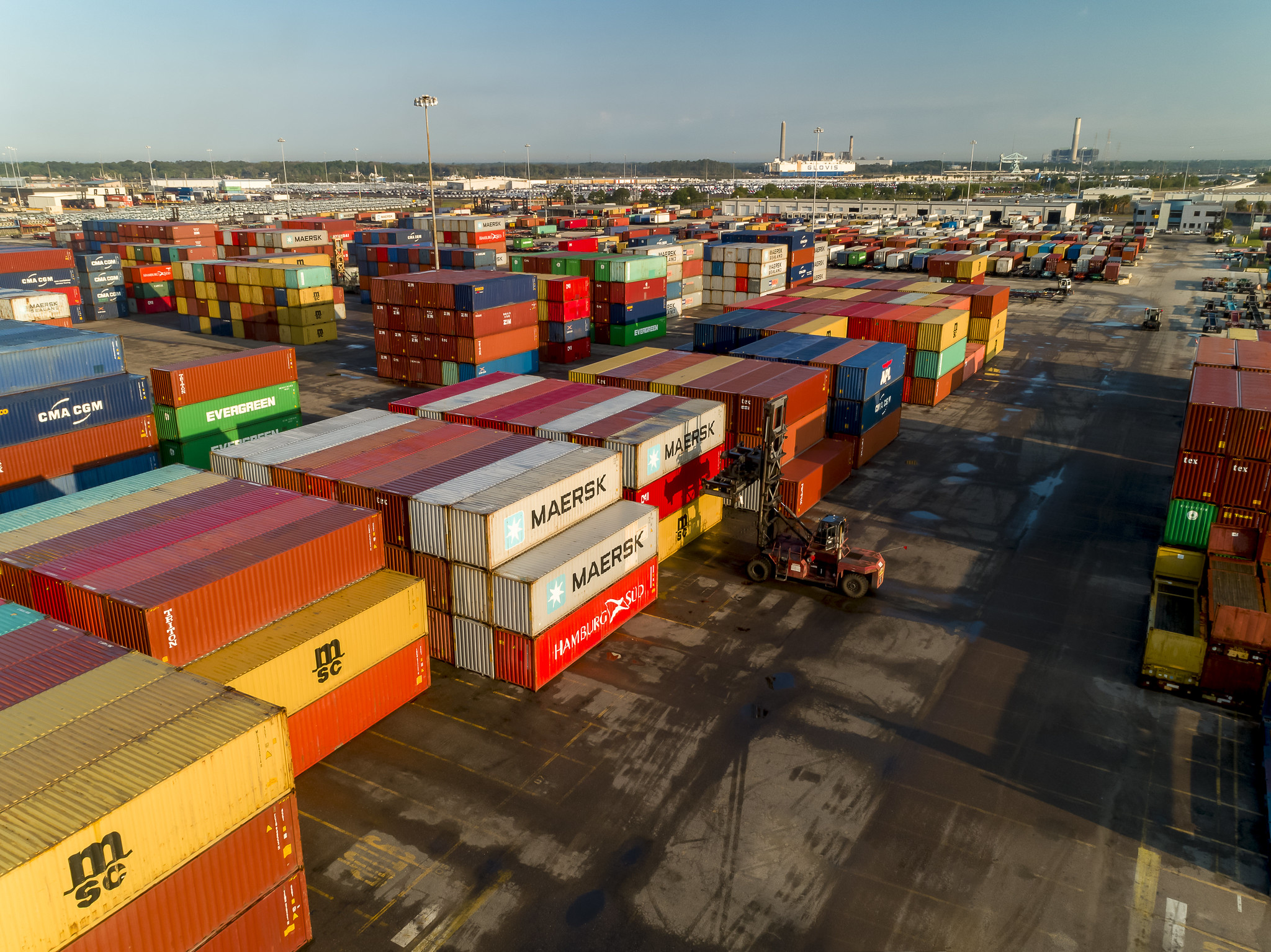 A photograph of containers at the Port of Jacksonville.