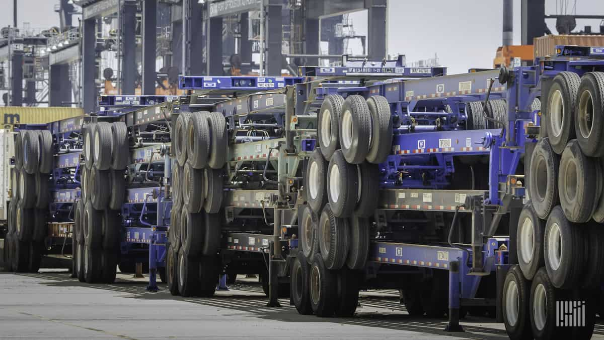 Southeast ports and carriers agree to upgrade chassis pool