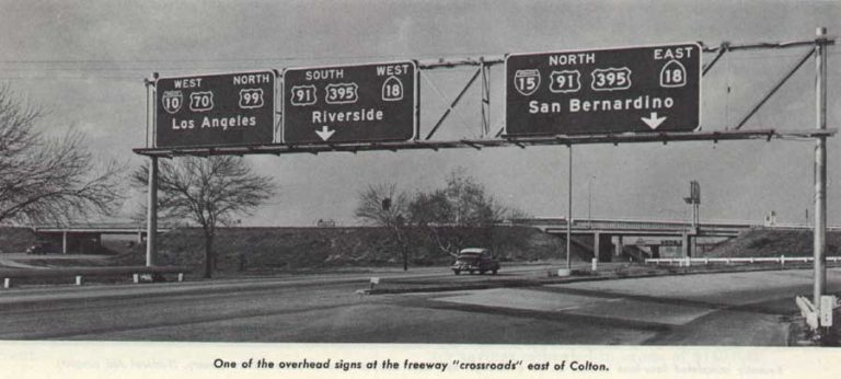 An early interstate highway photo in California that shows an exit for I-15. (Photo: interstate-guide.com)