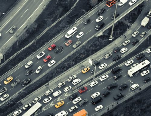 An overhead view of traffic on I-15 in San Diego County. (Photo: Rebuild Socal Partnership)