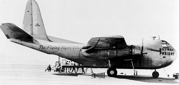 A Budd RB-1 Conestoga was the first airplane used by the Flying Tiger Line, which was formed on June 25, 1945.  (Photo: FlyingTigersClub.org)