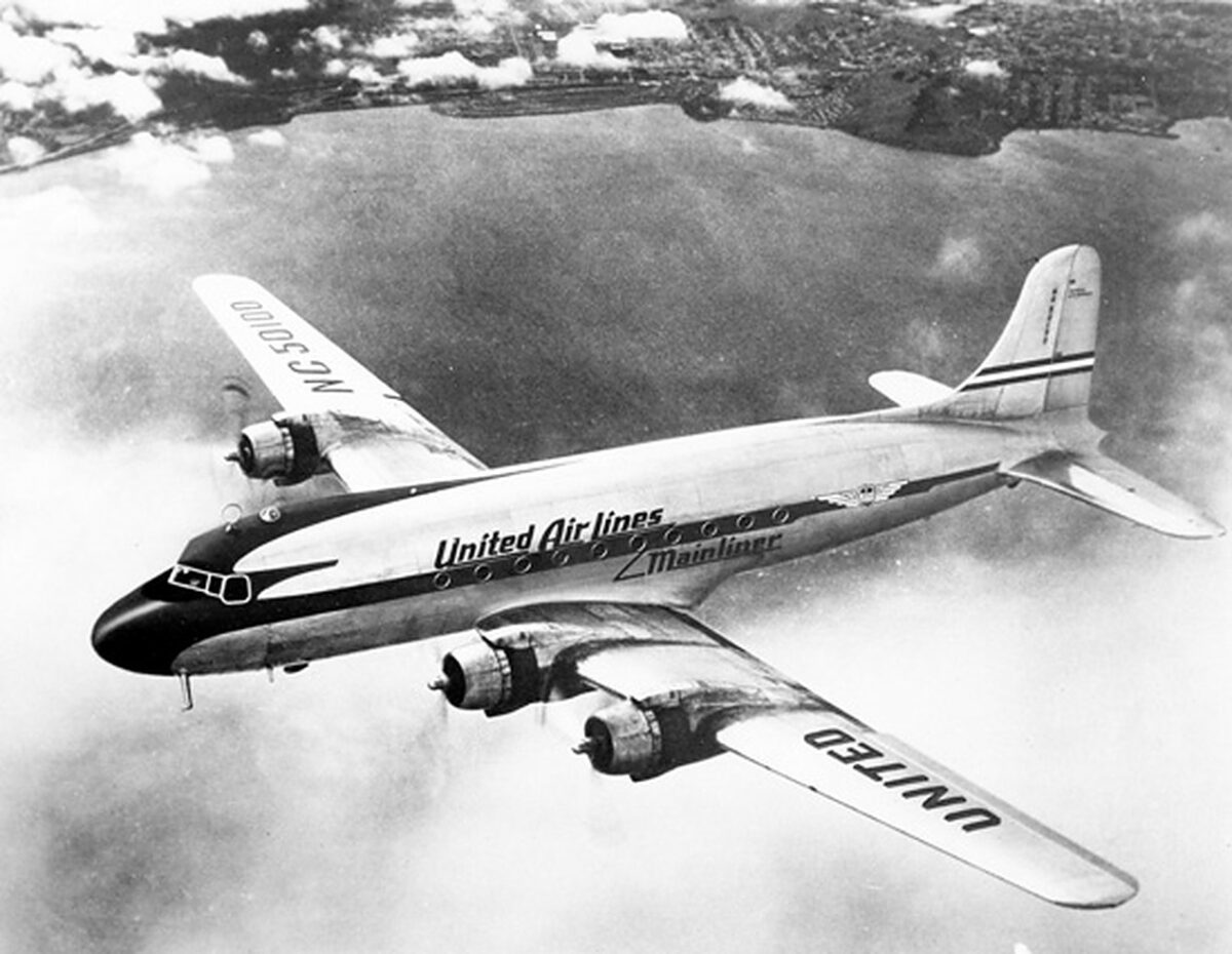This was a United Airlines DC-4, used for all-cargo flights. (Photo: United Airlines)