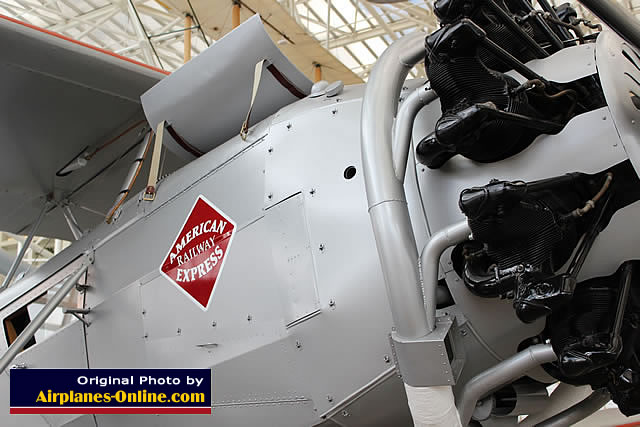 An American Railway Express airplane on display at the Museum of Flight in Seattle.  (Photo: Airplanes-Online.com)
