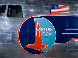 A photo of an Eastern DC-3 with logo and American flag. (Photo: National Air and Space Museum)