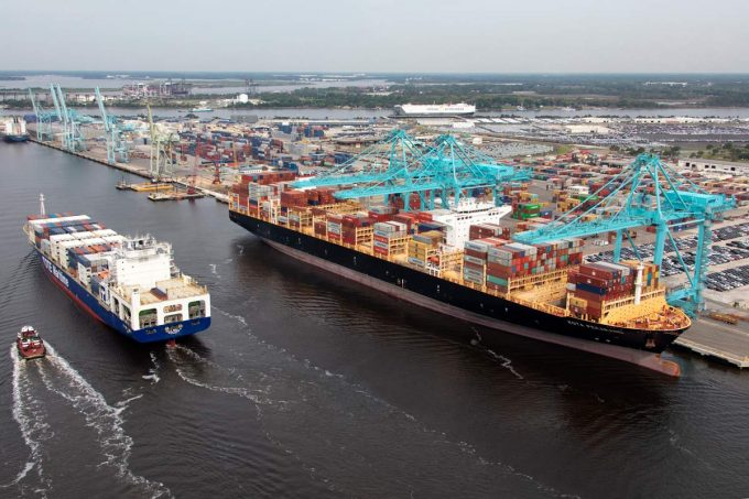 An aerial view of some of Blount Island's facilities. (Photo: JAXPORT)