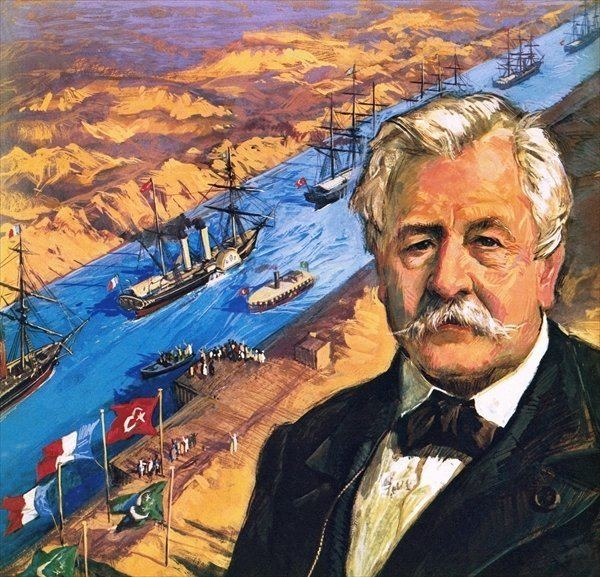 An illustration of Count Ferdinand de Lesseps and his successful Suez Canal. (Image: Alchetron)
