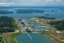 An aerial view of the Panama Canal. (Photo: Panama Canal Authority)