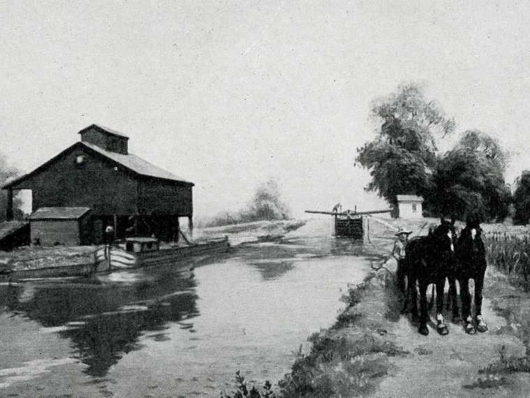 The Illinois and Michigan Canal, an inland waterway. (Photo: Chicago Public Library)
