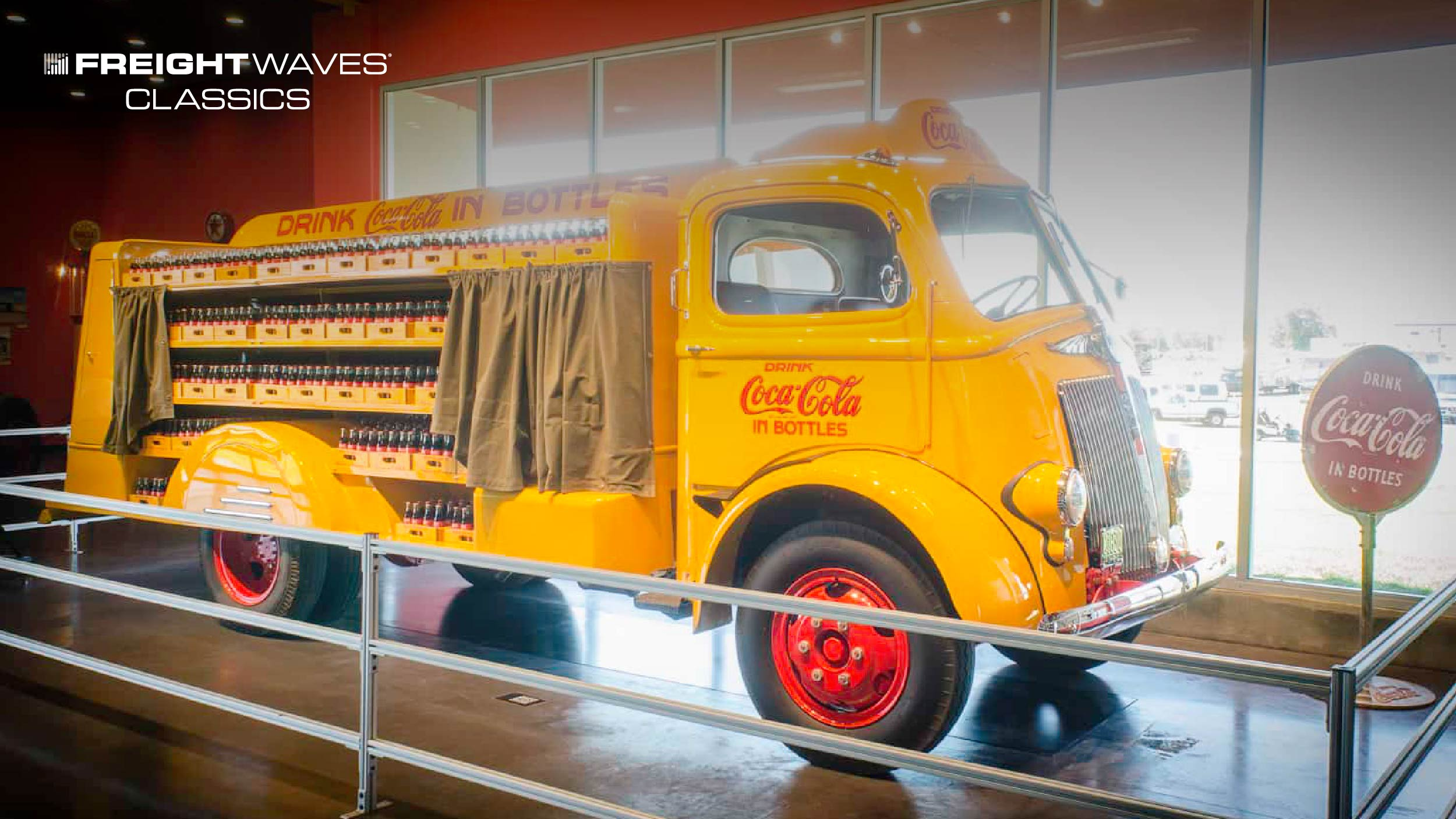 A Coca-Cola delivery truck manufactured by the White Motor Company. (Photo: Jim Allen/FreightWaves)