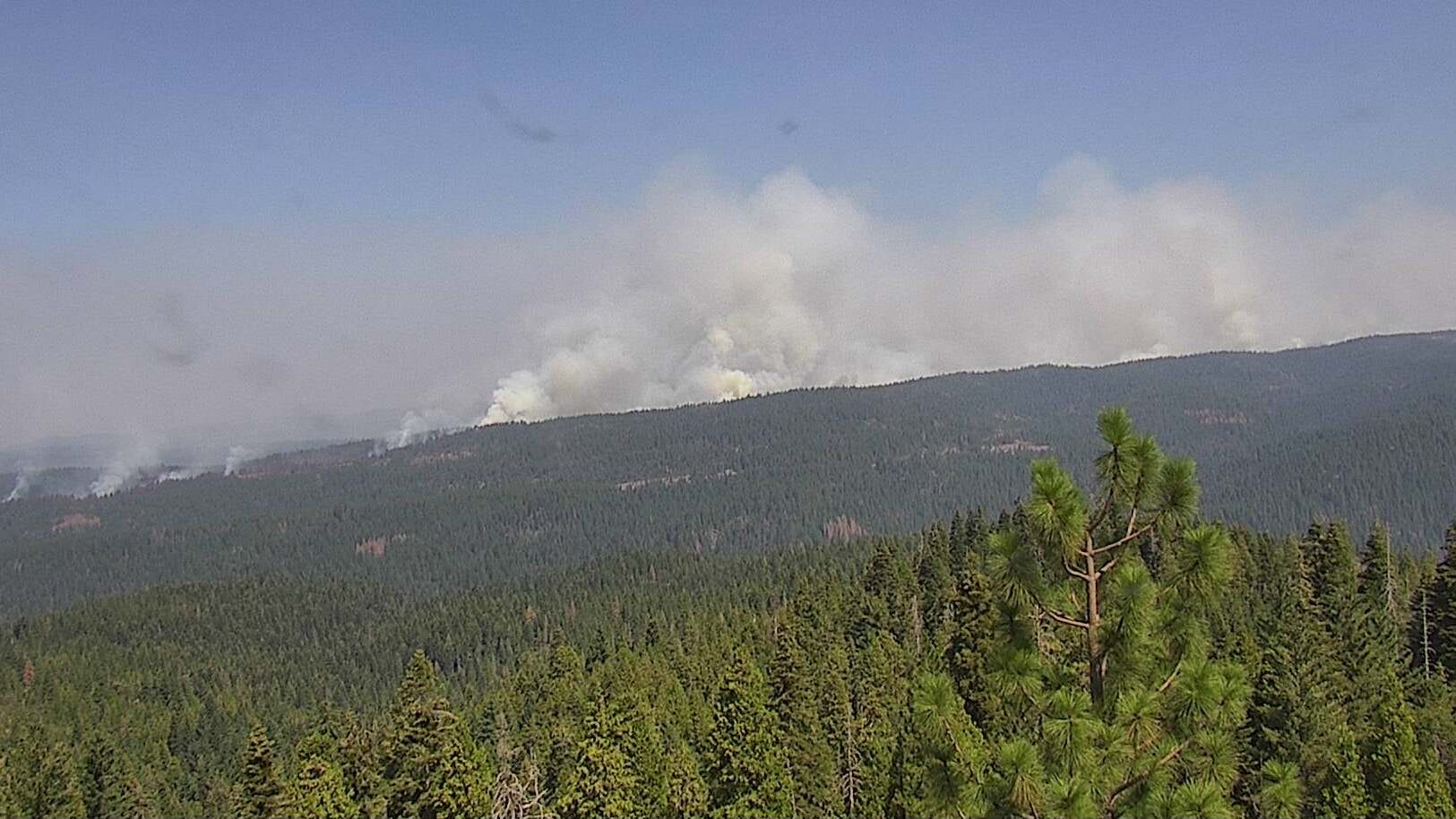 Smoke from the Caldor wildfire in eastern California.