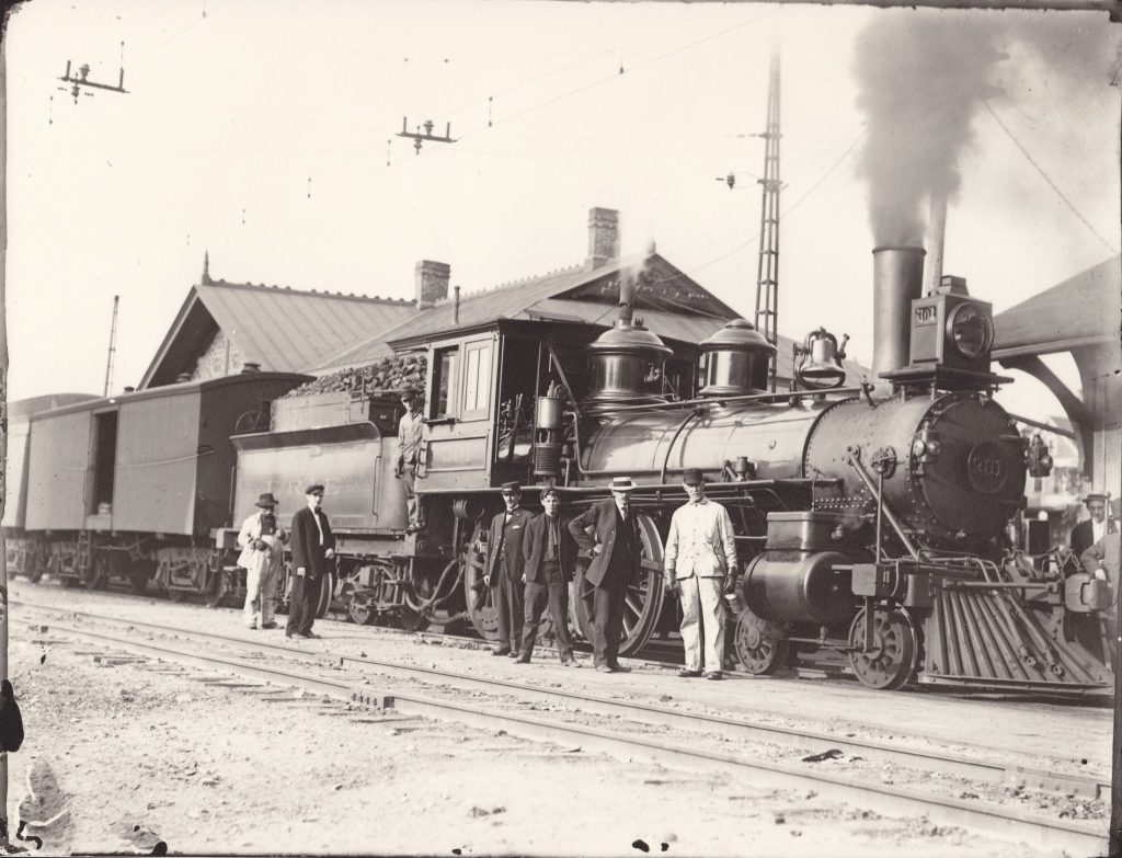 A photo of an Erie Railroad freight train. (Photo: Rochester and Genesee Valley Railroad Museum)