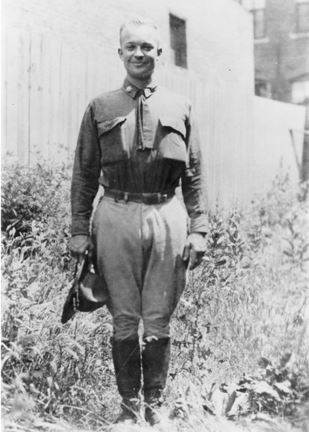 Lt. Col. Dwight D. Eisenhower posed for a photograph during the convoy. (Photo: National Archives)