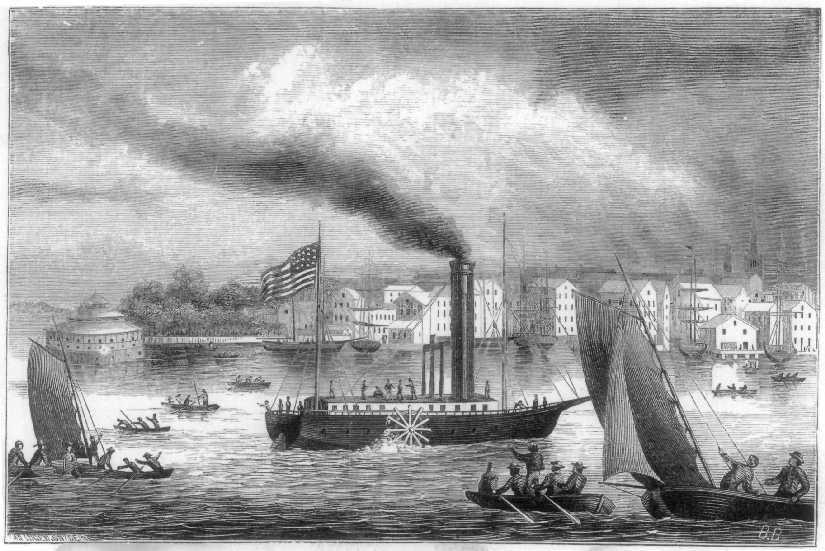 A drawing of Fulton's steamship New Orleans. (Image: Sen. John Heinz History Center)