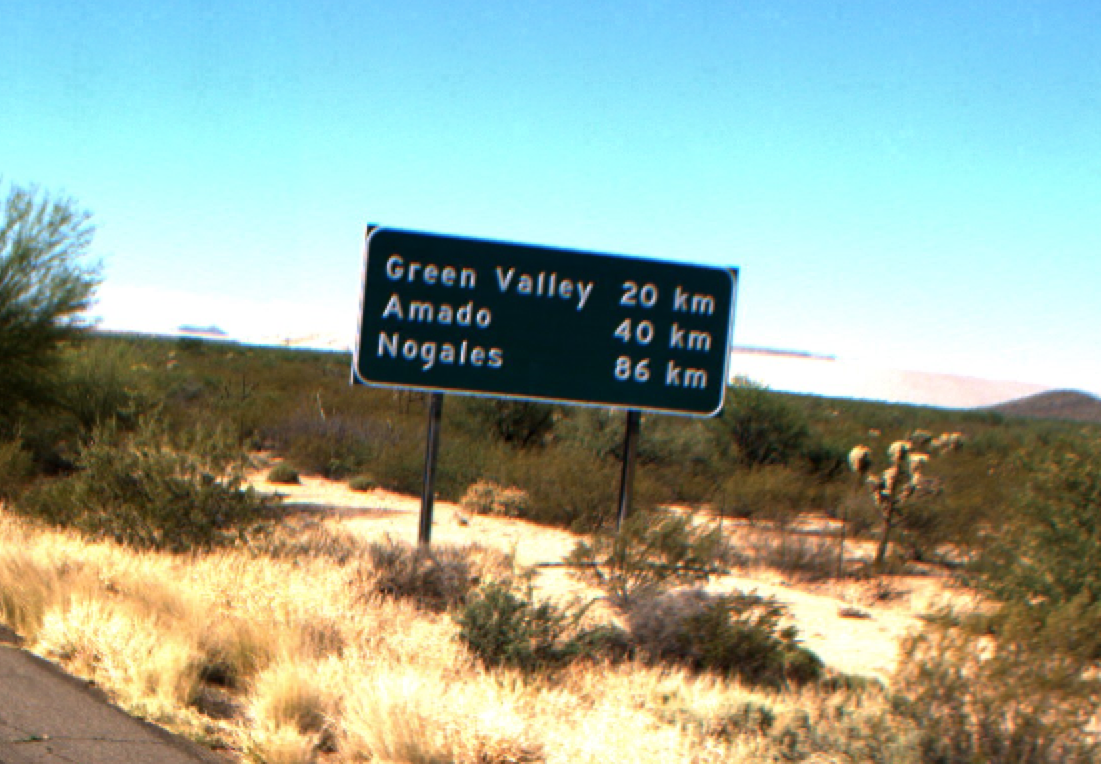 How far is Nogales? An 1-19 road sign with distances in kilometers. (Photo: Arizona Department of Transportation)