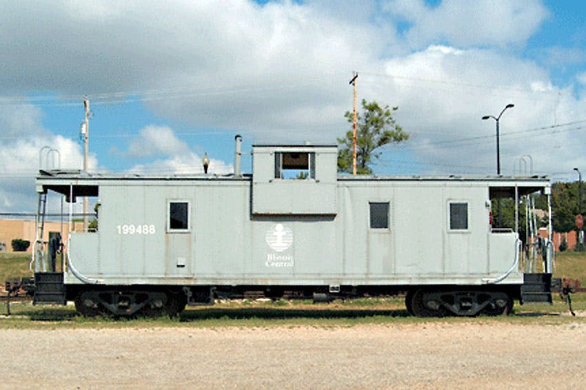 An Illinois Central Railroad caboose. (Photo: National Railroad Museum)