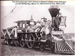 The first passenger train arrived in Waterloo, Iowa, in 1861.  (Photo: aa-voices-museum.uni.edu)