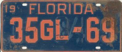 This Florida license plate was re-stamped. (Photo: wwiijeepparts.com)